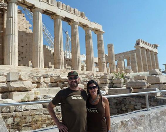 Gema y Jose. Partenón de Atenas, agosto 2014