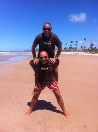 Godo e Isidro. Brasil, agosto 2014