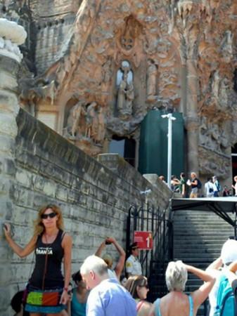 Inma. Sagrada Familia de Barcelona, septiembre 2014
