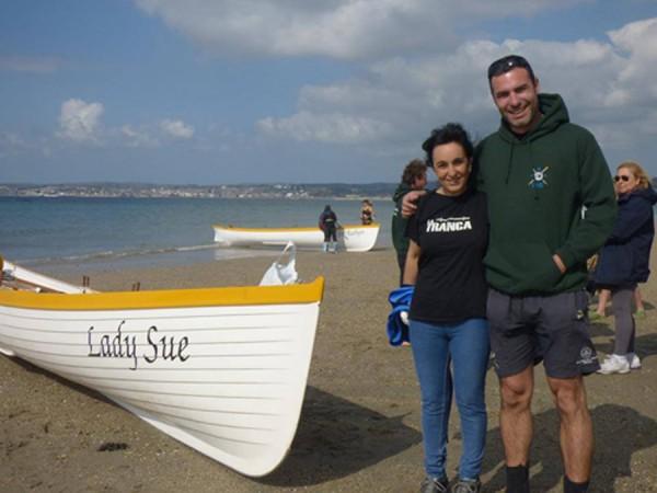 Javi y su amiga jabegote. Cornwall, abril 2014