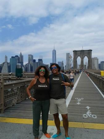 Rosa y Pedro. Puente de Brooklyn, NYC,