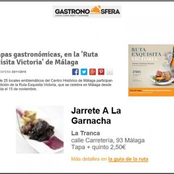 El jarrete a la Garnacha en Gastronosfera