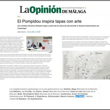 En la Opinión de Málaga con tapa Cruzcampo