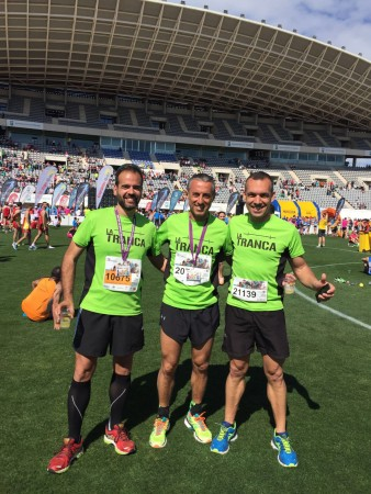 Tres de nuestros runners trancos@s tras la Media Maratón de Málaga