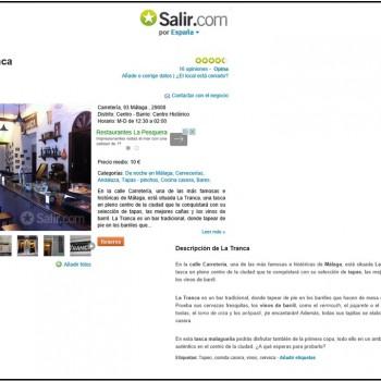 La Tranca en MálagaSalir