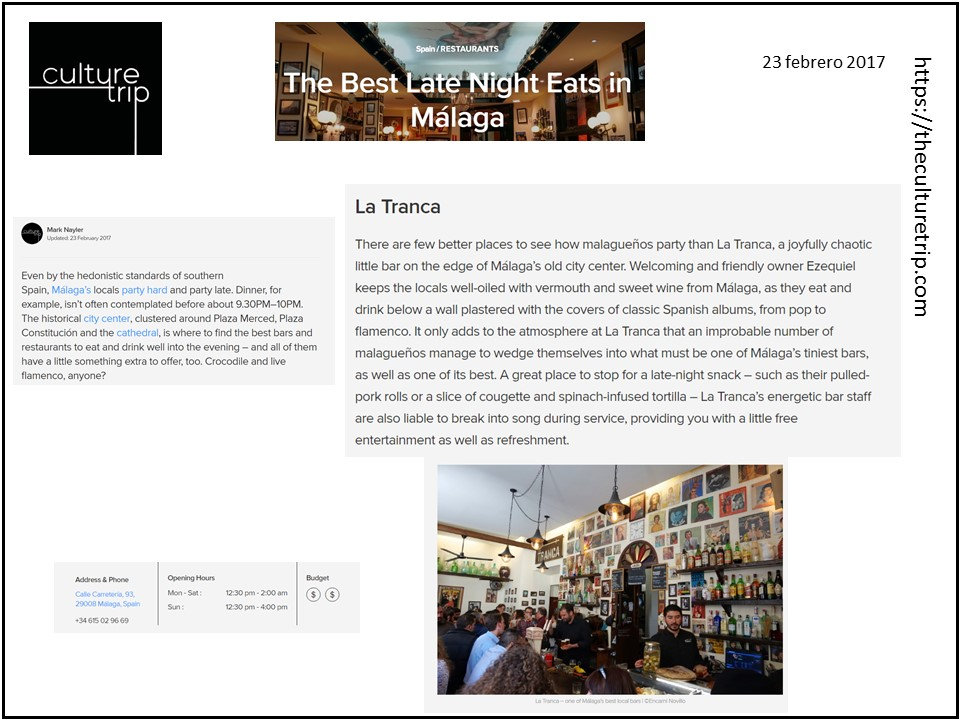 La Tranca Málaga en Culture Trip