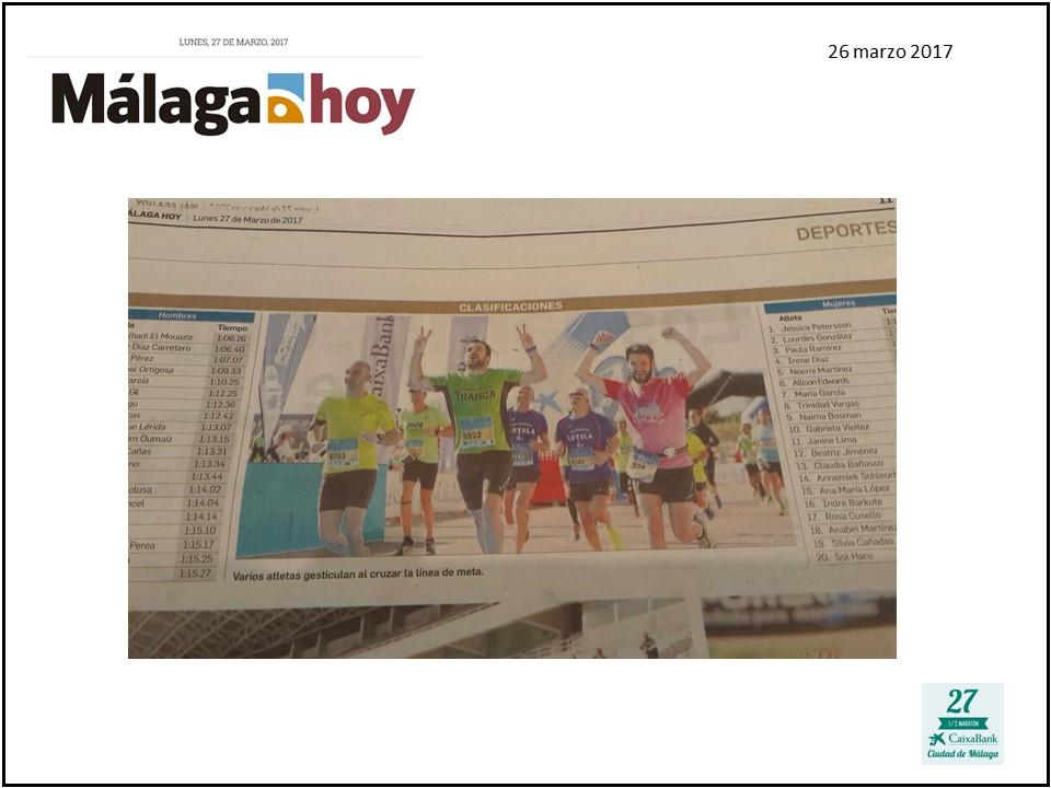 Málaga Hoy La Tranca Málaga Media Maratón