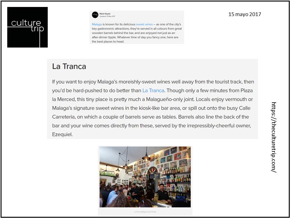 La Tranca Málaga Culture Trip Vermouth Barriles