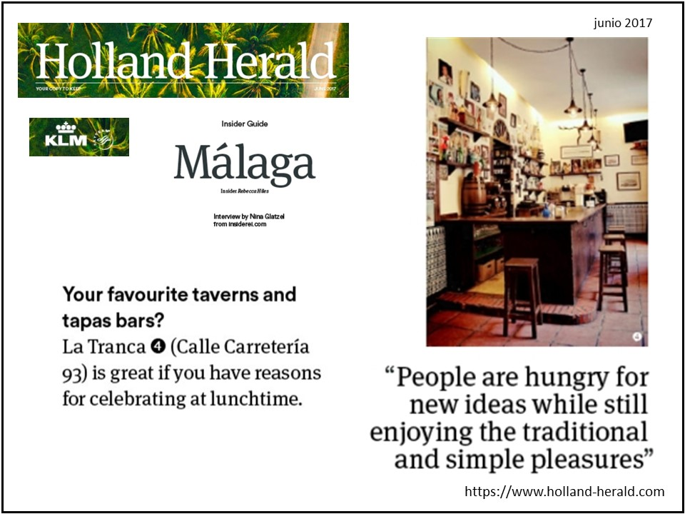 La Tranca Málaga Holland Herald KLM tapas