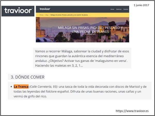 La Tranca Málaga Travioor planes