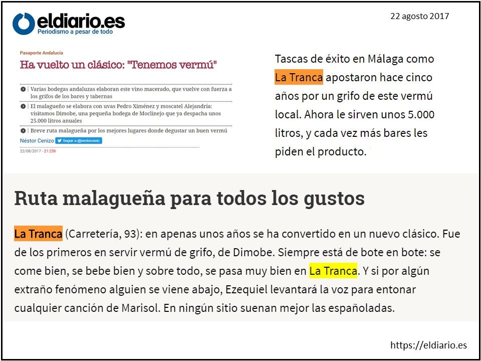 La Tranca Málaga eldiario.es vermú Dimobe