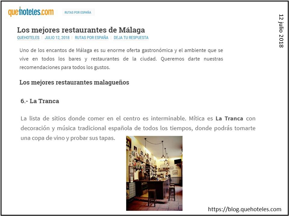 La Tranca Málaga Que Hoteles