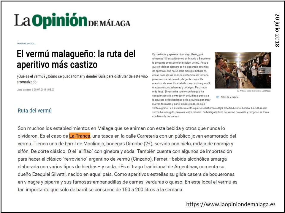 La Tranca Málaga Opinión vermú