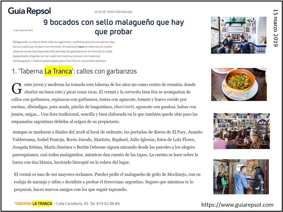 La Tranca Málaga Repsol
