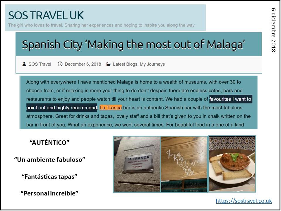 La Tranca Málaga tapas auténtico atmosphere authentic
