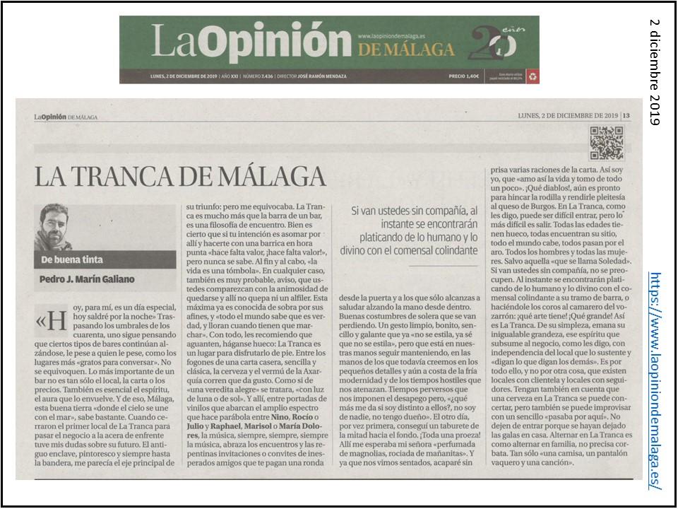 La Tranca Málaga Opinión Raphael
